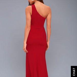 41246202f4f Lulu's Dresses | Brittany Wine Red Oneshoulder Maxi Dress Lulus ...